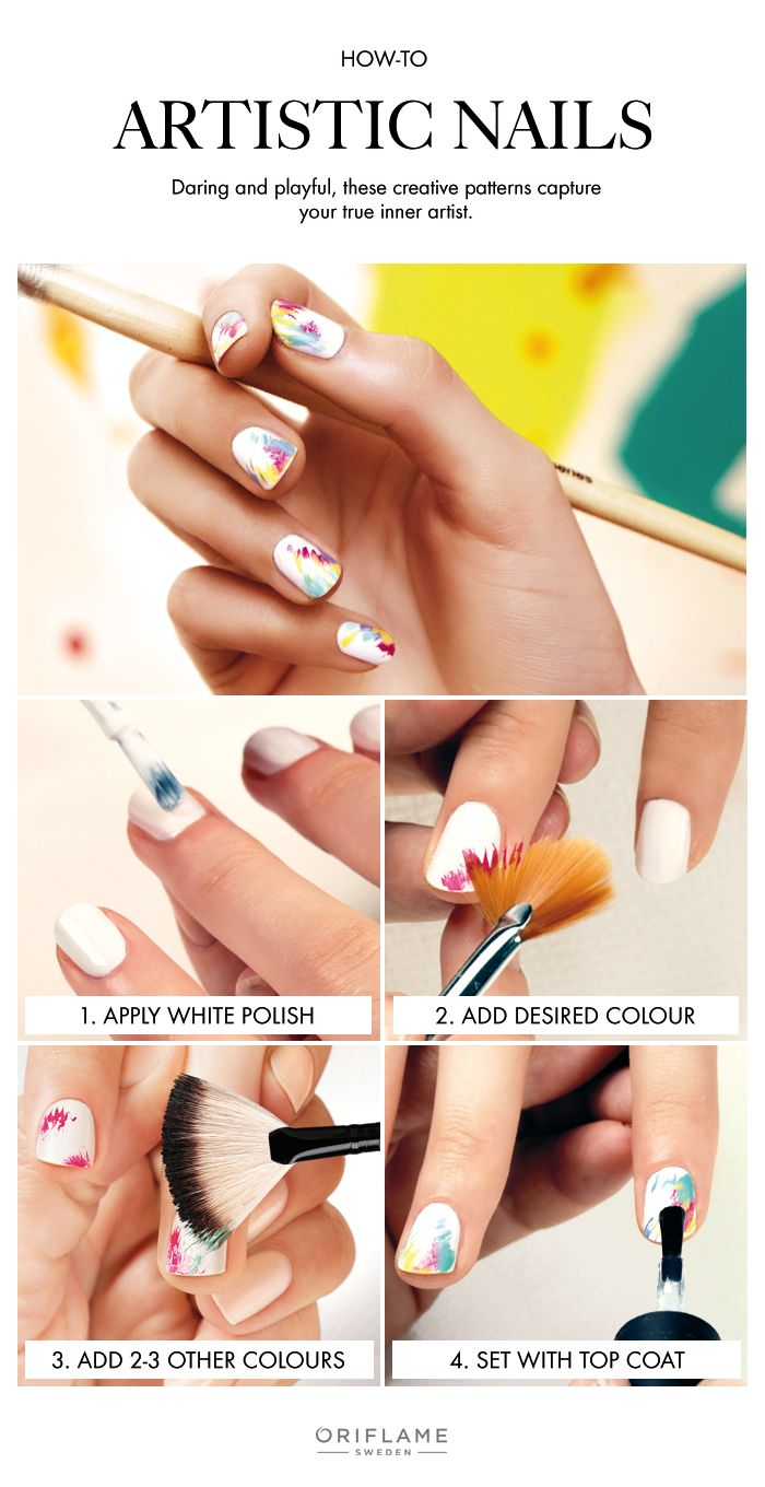 Artistic nails are daring, playful, and release your inner artist.