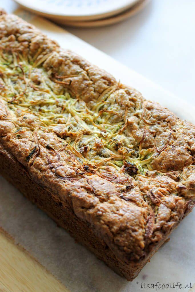 Gezonde en suikervrije courgette citroen cake. Maak cake met groente en eet gezond | It's a Food Life
