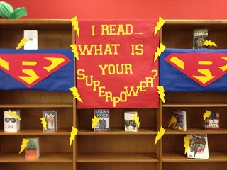 Our newest book display for our Superhero theme...The Endeavors of a Beta Librarian