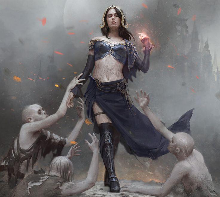 Liliana, Defiant Necromancer by Karla Ortiz