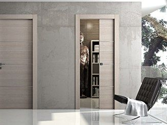 Puerta corrediza empotrada de madera MS | Puerta de madera - Pail Serramenti