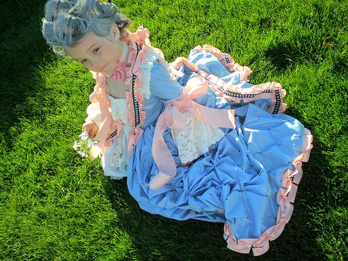 Yes this is a child's costume - Marie Terese (daughter of Marie Antionette).  If you love historical costumes designs, you might want to tackle this fun project....