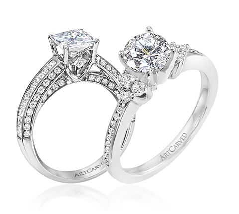 artcarved candace engagement ring and the artcarved kayla engagement ring - Wedding Ring Brands