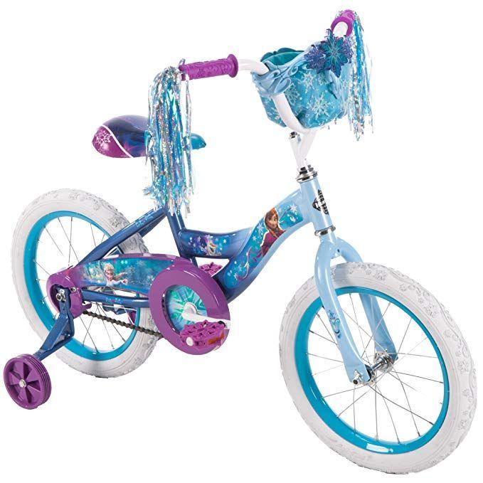 Huffy 16 Disney Frozen Girl Bike With Training Wheels Blue Purple Review Bike With Training Wheels Bikes Girls Childrens Bike