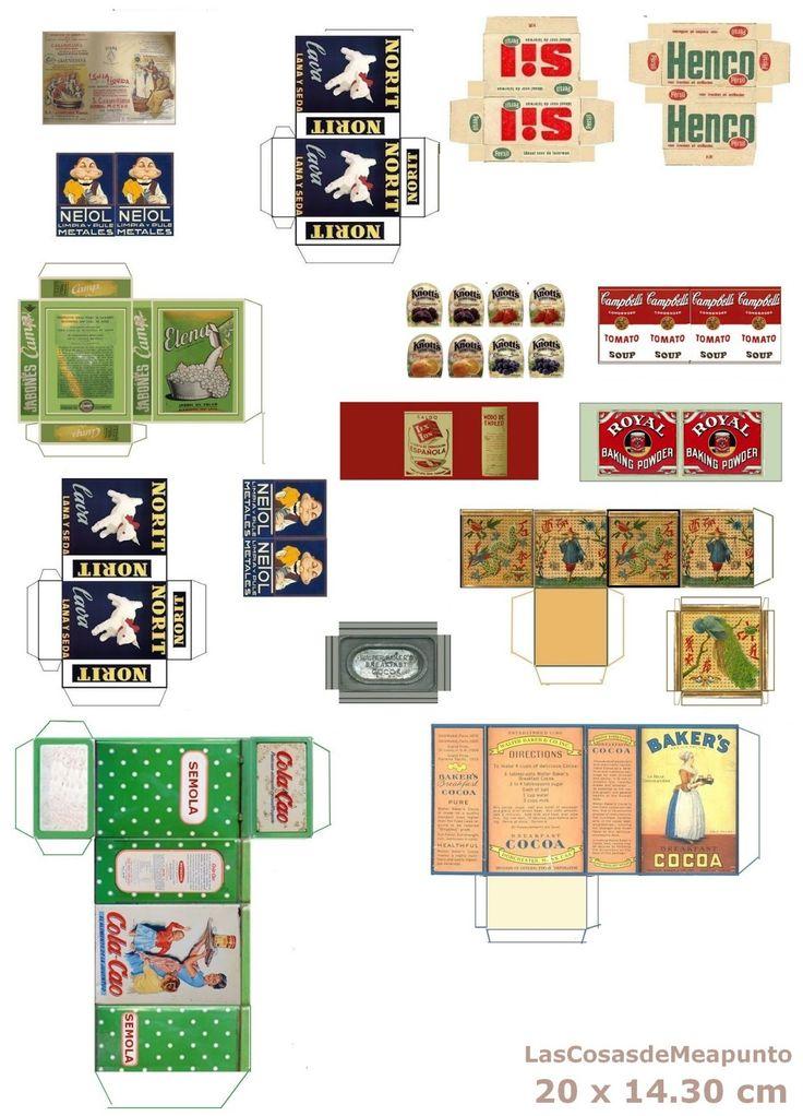 135 best dollhouse labels food boxes images on pinterest - Productos limpieza cocina ...