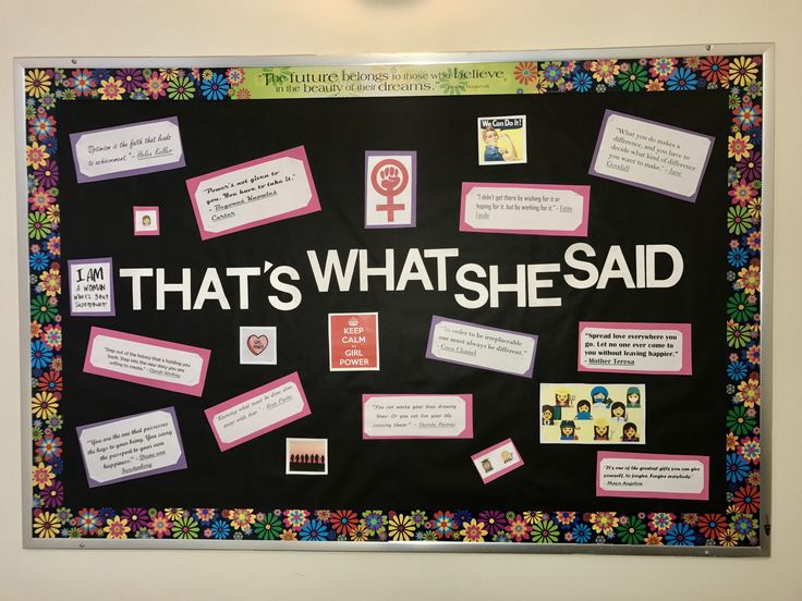 March Bulletin Board Eena & Byany Women's History Month