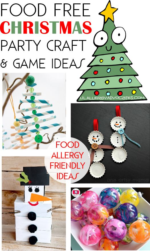 Amazing Free Christmas Crafts Ideas Part - 10: Food Free Christmas Craft And Game Ideas. Food Sneaks Into Parties Not Only  As Snacks