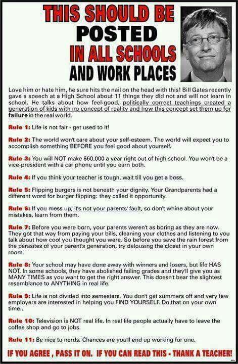 Bill Gates tells it like it is
