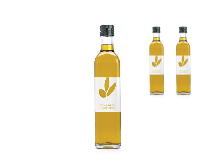 Minimalist olive package design.