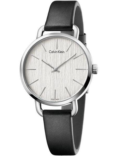 Calvin Klein horloge Even K7B231C6 Zwart