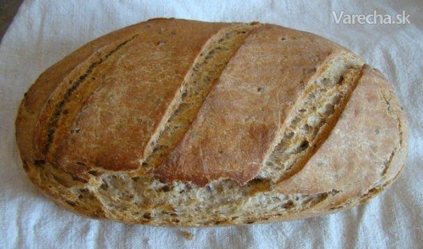 Kváskový chlebík zo 4 druhov múky (fotorecept)