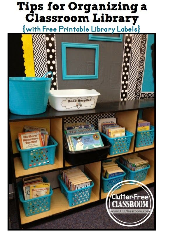 Clutter-Free Classroom: Leveled Classroom Library Labels Freebie-Chalkboard Style {Classroom Design Photos, Set Up Pictures & Ideas, Organiz...