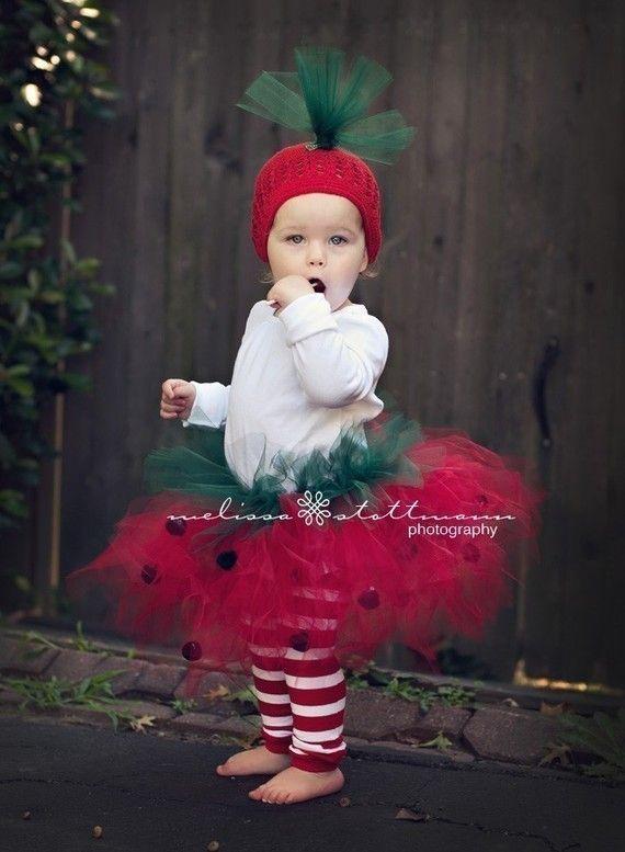 Strawberry Tutu Halloween Costume tutu hat by happycakescreations