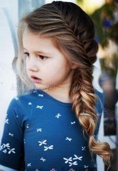 braided hairstyle for flowergirls