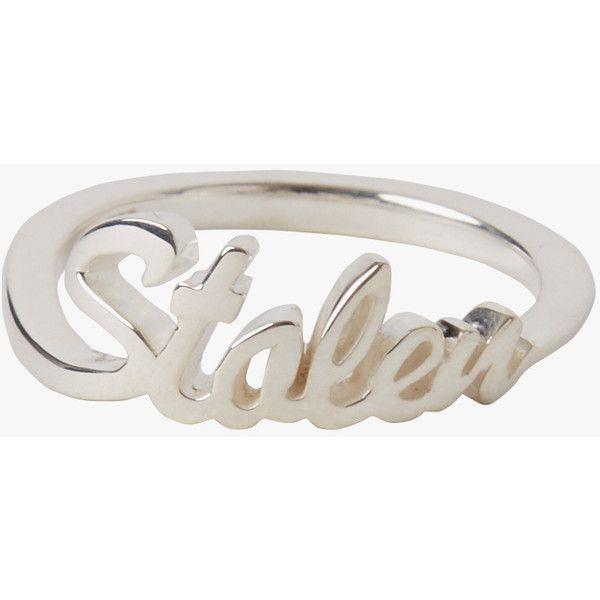 Stolen Girlfriends Club Jewellery Stolen Script Ring.
