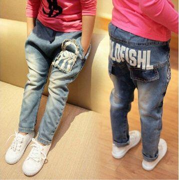 Дети деним джинсы дети одежда мальчик девочка длинная джинсы ковбойские длинная - брюки дети брюки