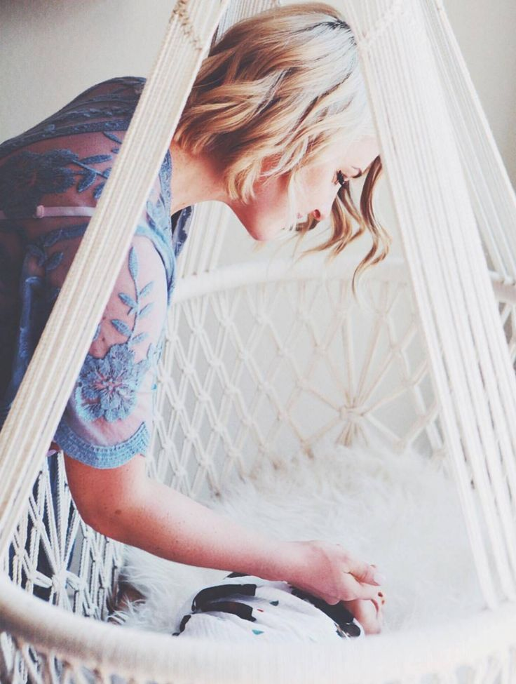 Macrame Hanging Cradle | HangAHammock on Etsy