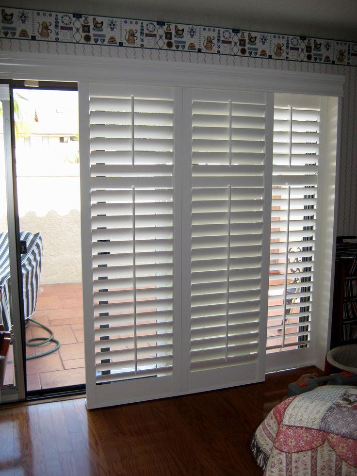 Best 25 blinds for sliding doors ideas on pinterest for Alternative to plantation shutters