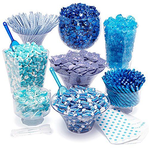Tiffany Blue Candy Kit - Party Candy Buffet Table: 25 to 50 Guest