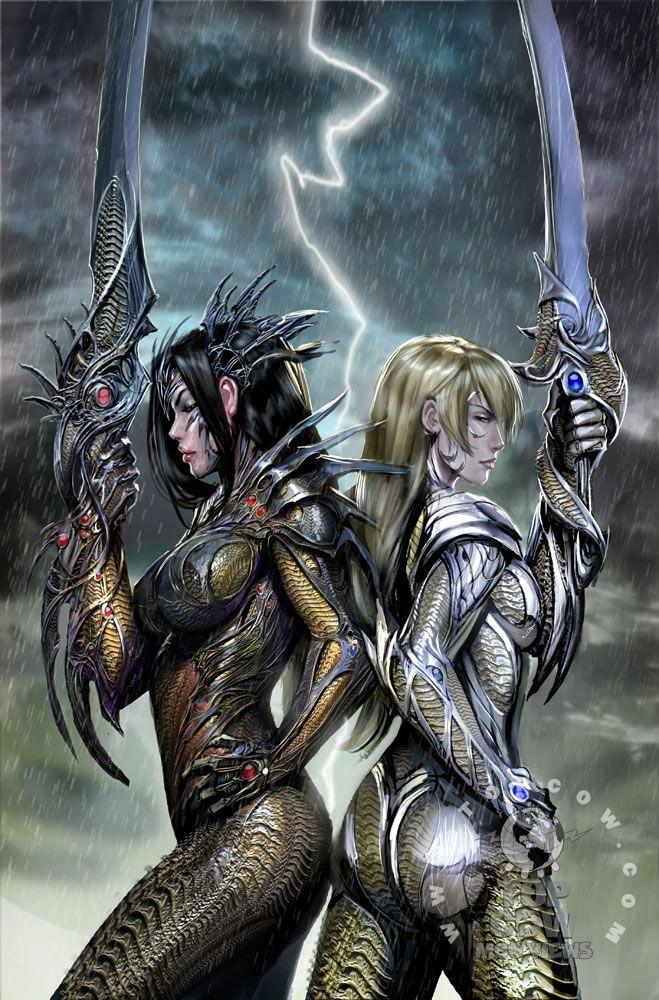 Marvel Power Girl Wallpaper Witchblade Sara And Dani Comics Comics Fantasy