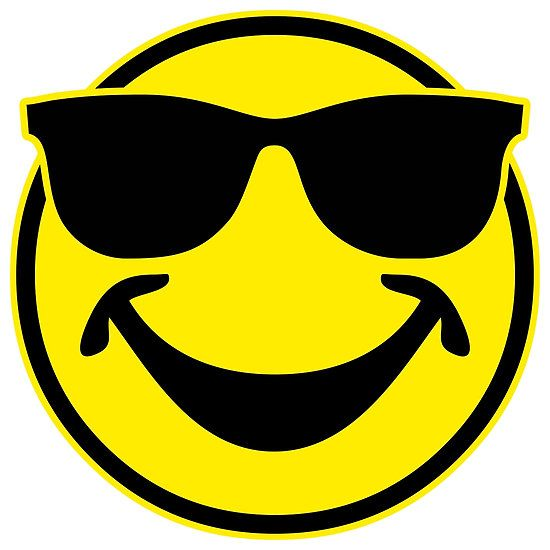 Cool funny Smiley with sunglasses