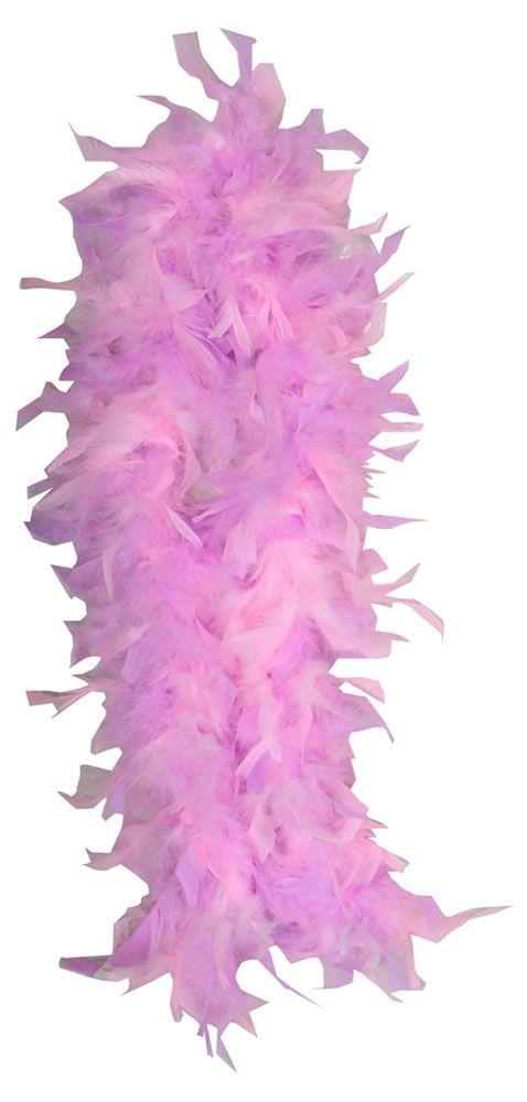 Боа из перьев розовое