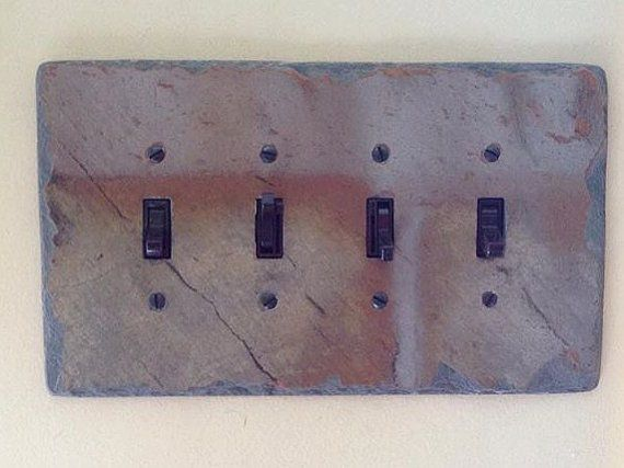 4 Switch Plate Beauteous Decorative Slate Switch Plate 4 Quad Togglevermontslateart Design Ideas