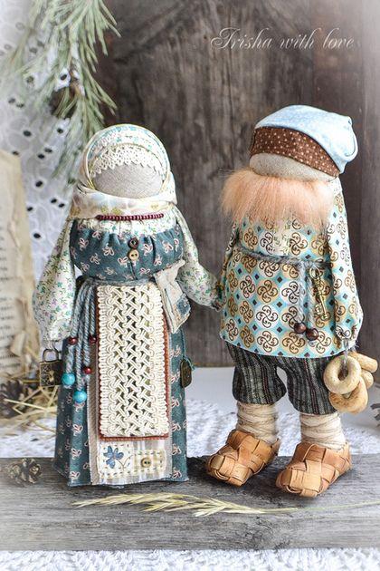 """Народные куклы ручной работы. кукла-оберег Новгородская парочка """"Ключик к…"""