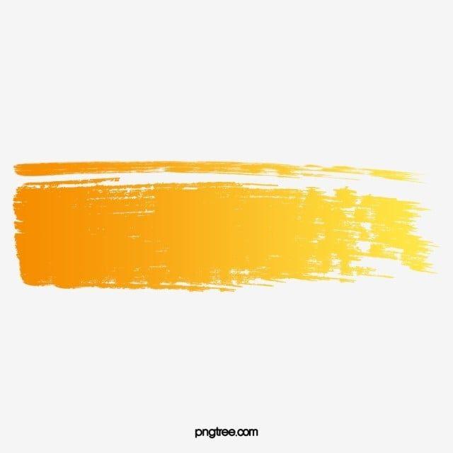 Orange Brush Vector Ink Marks Color Brush Png Transparent