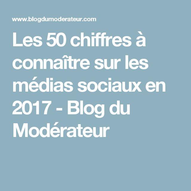 Les 50 chiffres à connaître sur les médias sociaux en 2017 - Blog du Modérateur
