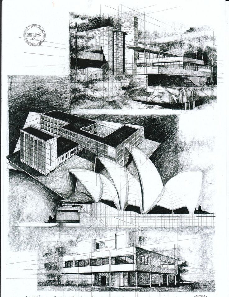 Modern Architecture Drawing 251 best architecture sketch images on pinterest | mansions