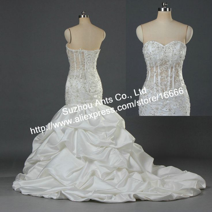 135 best wedding dresses images on pinterest bridal for See through corset top wedding dress