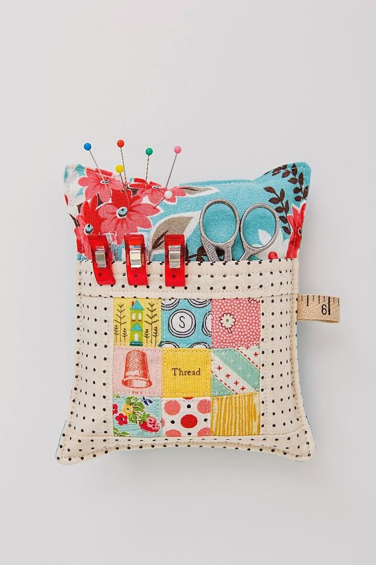 Pin cushion with a pocket. Why Not Sew?: Busy Girl Sews Tour