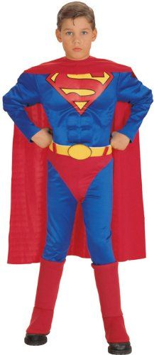 Super DC Heroes Deluxe Muscle Chest Superman Toddler Costume