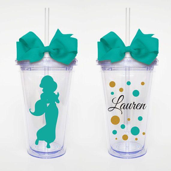 Princesa jazmín-acrílico vaso personalizado taza