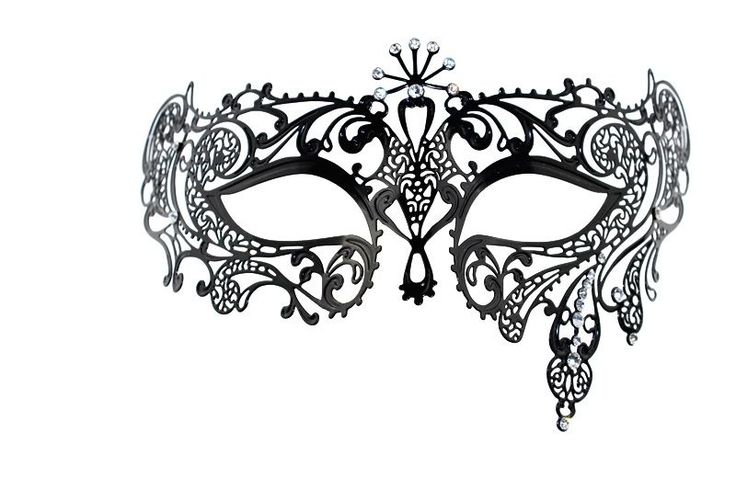 Venetian Masquerade Black Metal Filigree Event Ball Party Masks With Rhinestones...love this as a tatoo