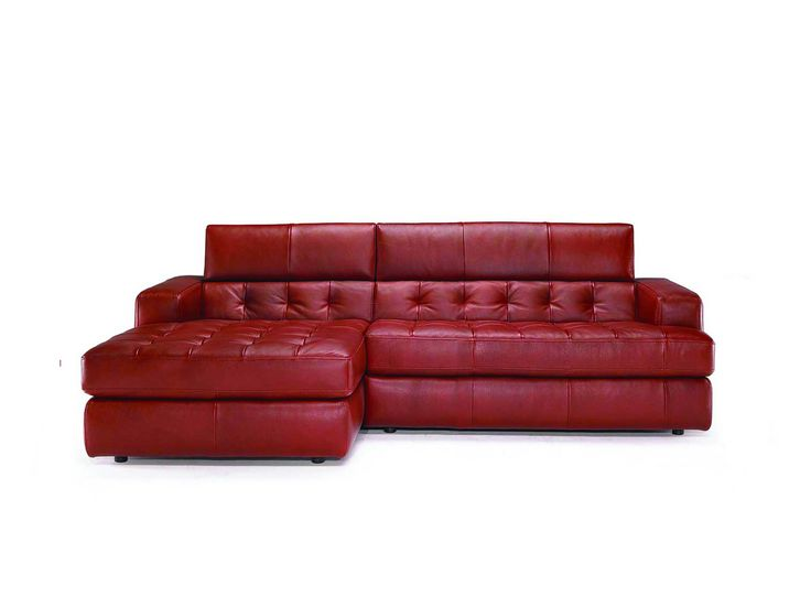 Tufted Sofa Amazing Small Sectional Sofa With Chaise Red Dark Color