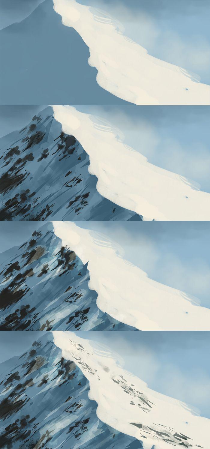digital art brushes mountain - Buscar con Google