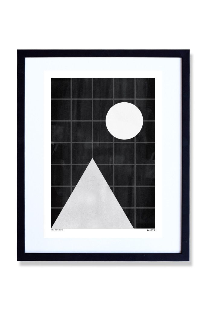 Full Moon Rising - Art print by Duett Design
