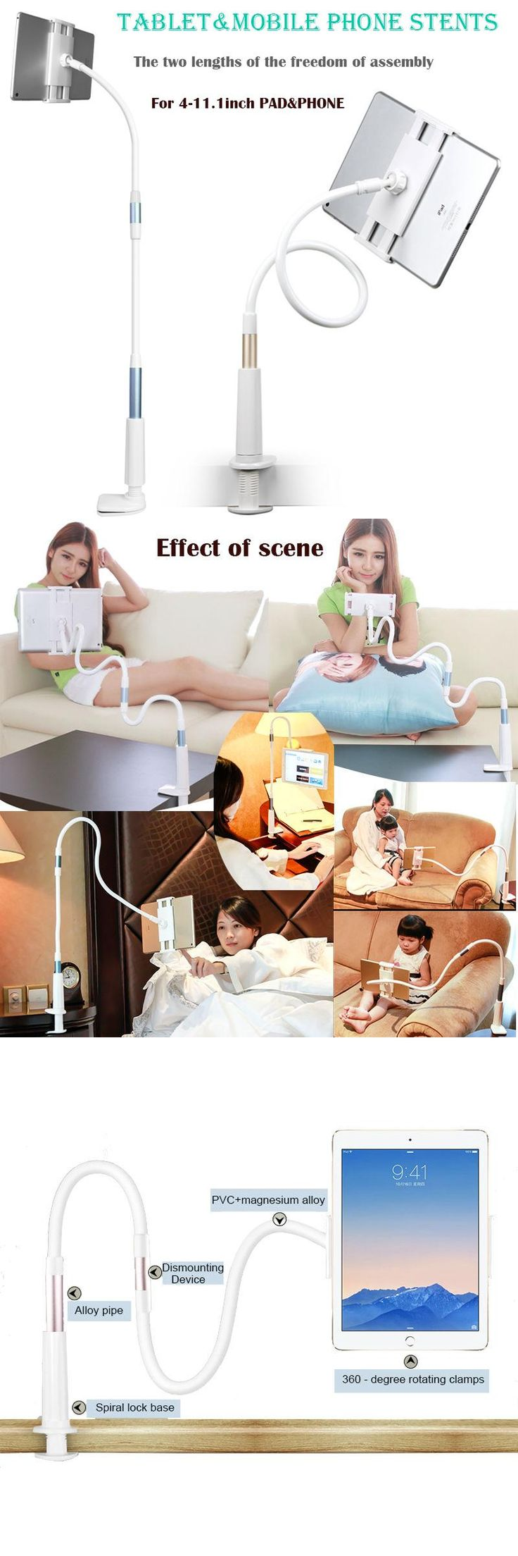[Visit to Buy] 360 degree Flexible Arm mobile phone holder stand  Lazy People Bed Desktop tablet mount for All tablet PCs and mobile phones #Advertisement
