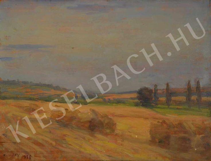 Landscape in Somogy After Harvest - Lajos Kunffy