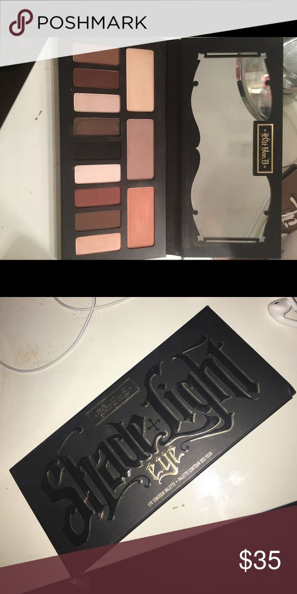 Kat Von D Shade+Light Contour Palette An eye contouring palette with three color quads in neutral, cool & warm shades. Only swatched! Kat Von D Makeup Eyeshadow