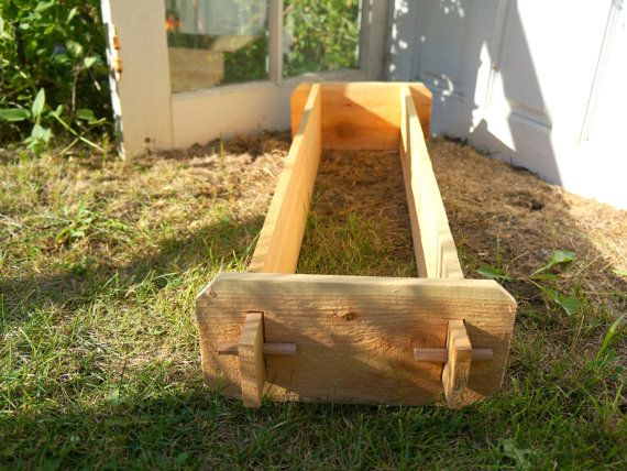1x3 Cedar Flower Box, Cedar Planter, Vegetable Garden Box Outdoor Planter Large Planter Herb Garden Box Garden Planter Box Gift for Gardener Timberlane Gardens _________________________________________________________________________________________  We shrunk our full size raised beds into the cutest planters youve ever seen! Includes one planter bed with open bottom (12 inches wide x 3 feet long x 6 inches deep @ 9/16 thick). Inner (planting) dimensions are 7 inches wide x 31 inches l...