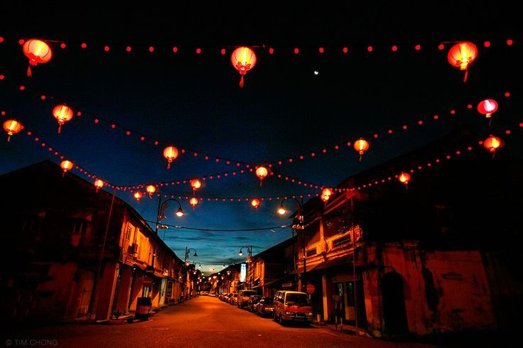 Lanterns are hung along a street at the edge of Kampung Cina area in Kuala Terengganu, Malaysia, February 21, 2007, during the lunar chinese new year season. Photo by Tim Chong