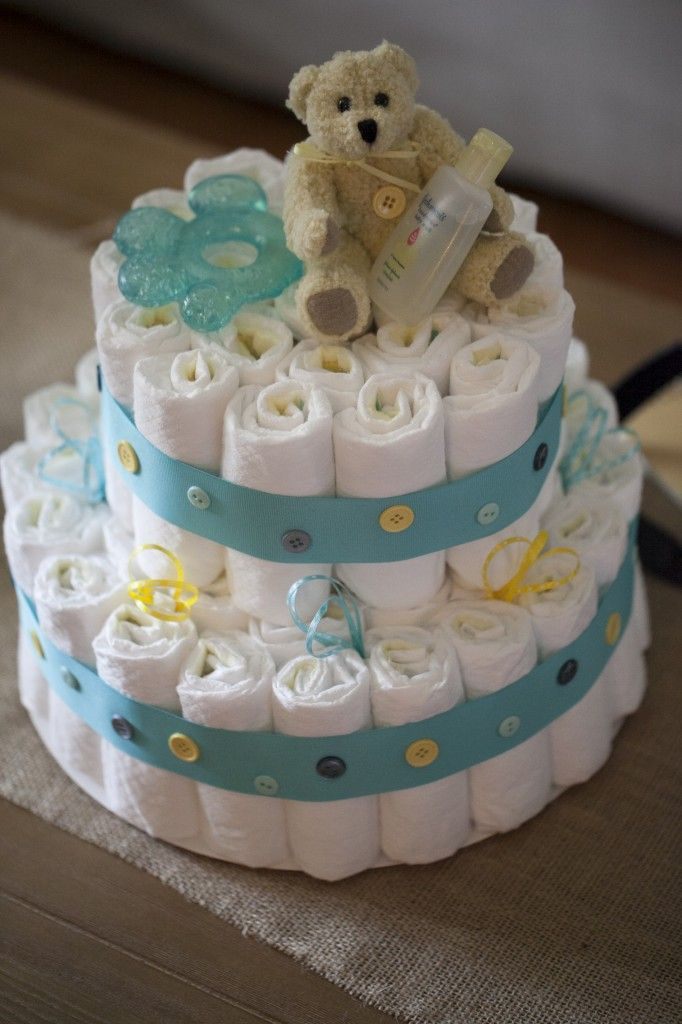 Cute As A Button Cake Baby Shower
