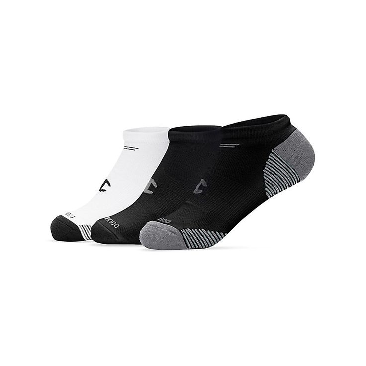 Champion Ladies No-Show Training Socks 3-Pack (CH646) -- Don't get left behind, see this great  product : Plus size Activewear