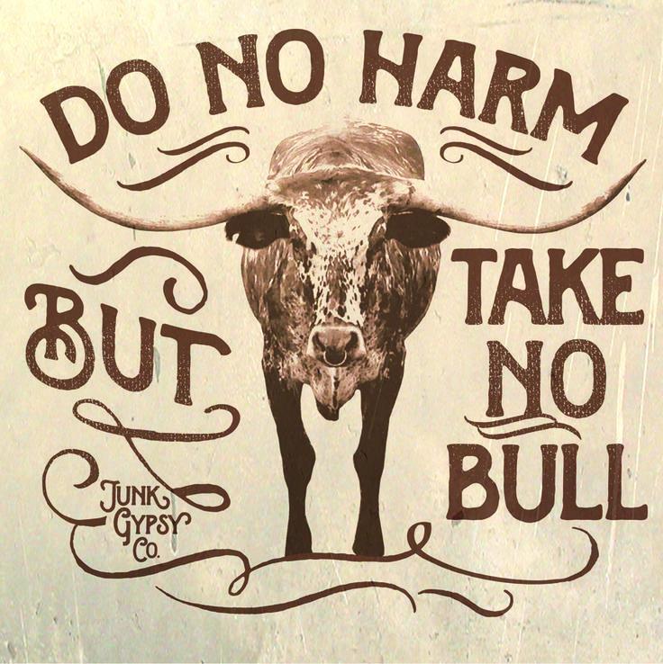 do no harm. take no bull