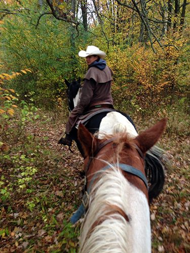 Riding with HorsePlay on the Niagara Peninsula in Ontario, Canada.