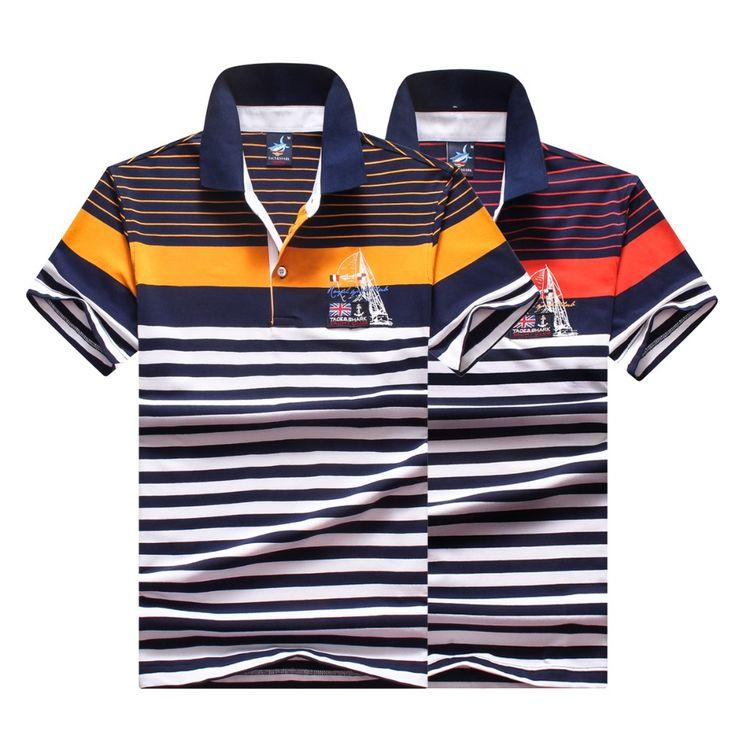Homens clássico tarja polo homme mens marcas camisa pólo Tace e tubarão tubarão manga curta polo logotipo camisa polo masculina 905 em Polo de Roupas e Acessórios - Masculino no AliExpress.com | Alibaba Group