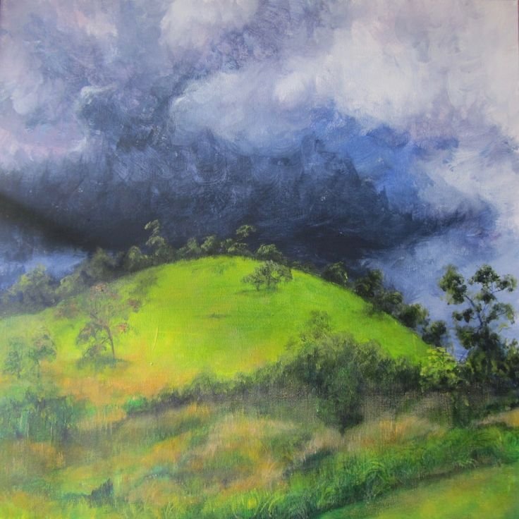 Storm over Wombalano by PaulineJollow on Etsy